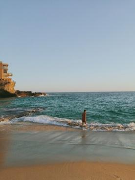beach coast coastline evening holiday horizon