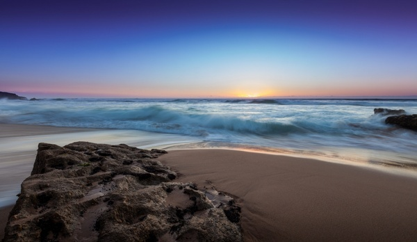 beach coast coastline evening island landscape