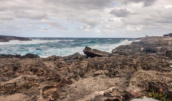 beach coast coastline horizon island landscape