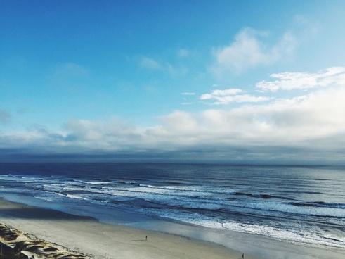 beach coast coastline horizon landscape nature
