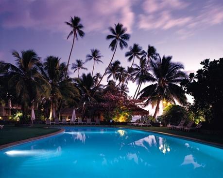 beach coast coconut exotic hotel idyllic leisure