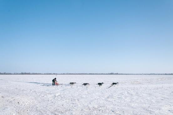 beach coast cold fisherman frozen ice kite lake