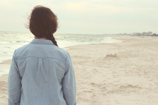 beach coast couple desert holiday horizon lonely