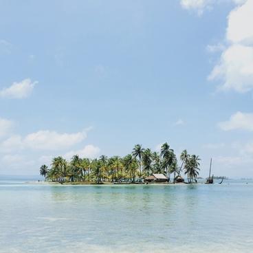 beach coast daytime exotic holiday idyllic island