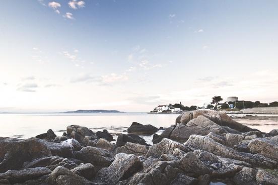 beach coast daytime horizon landscape nature nobody