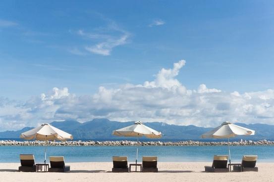 beach coast exotic holiday idyllic landscape leisure