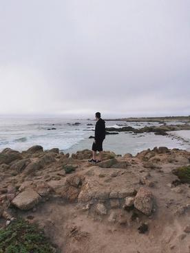 beach coast fisherman island landscape nature ocean