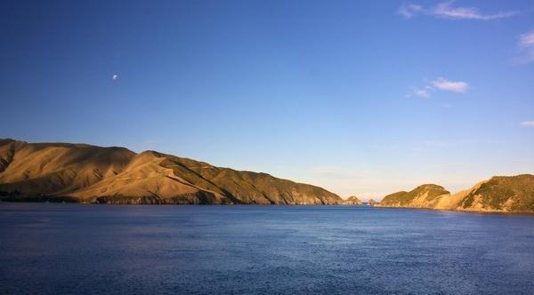 beach coast fjord island lake landscape morning