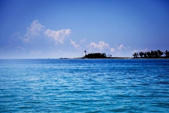 beach coast horizon idyllic island landscape nobody