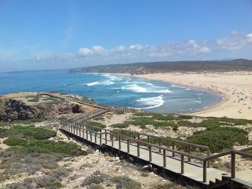 beach coast sea