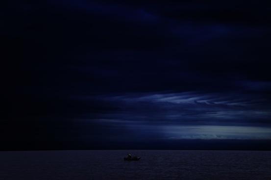 beach dark eclipse evening landscape light lightning