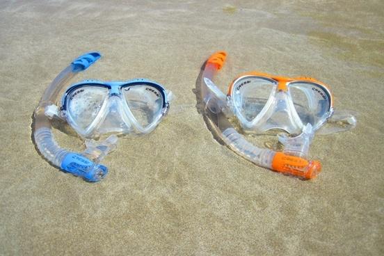 beach diving equipment