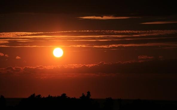 beach dusk eclipse evening golden lake landscape