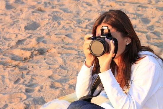 beach female girl