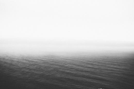 beach fog grass horizon mist ocean ripple sea