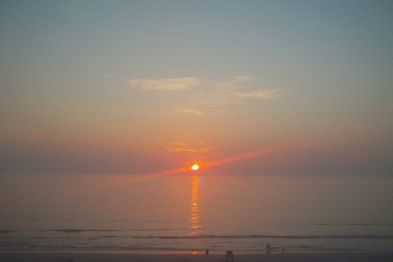 beach ocean sunrise