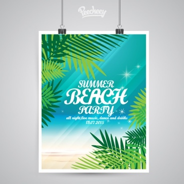 beach party summer poster