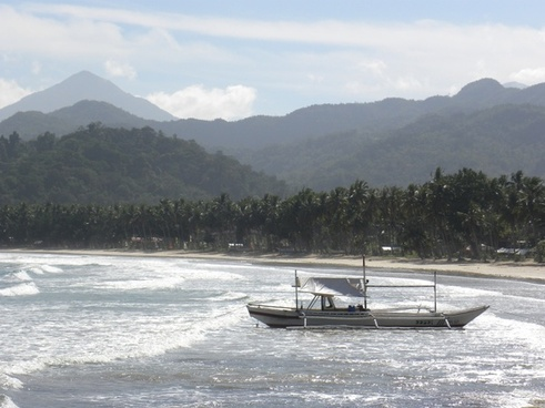 beach sea fishing boat