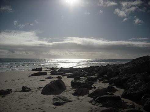 beach sea scene