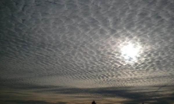 beach sky clouds cirrius