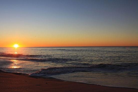 beach sunrise daybreak