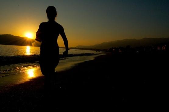 beach sunset beautiful beach