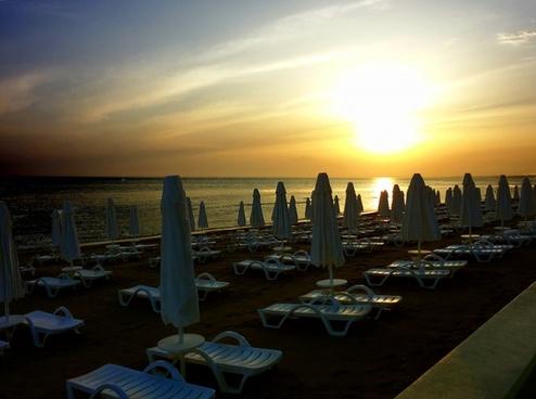 beach sunset empty