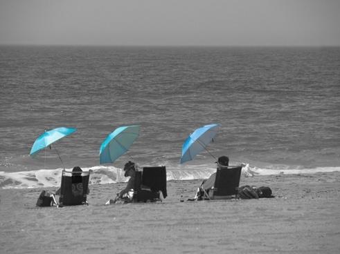 beach sunshade sunbathe