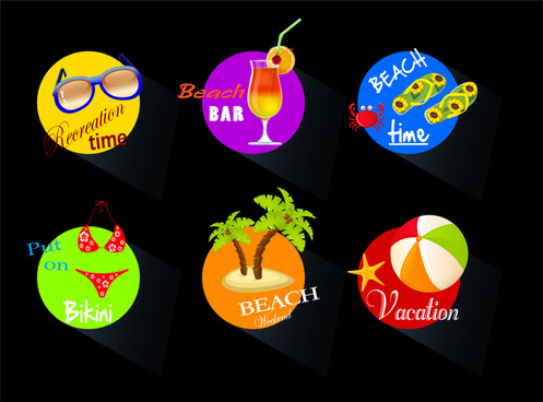 beach time icons