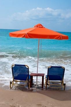 beach umbrella chair