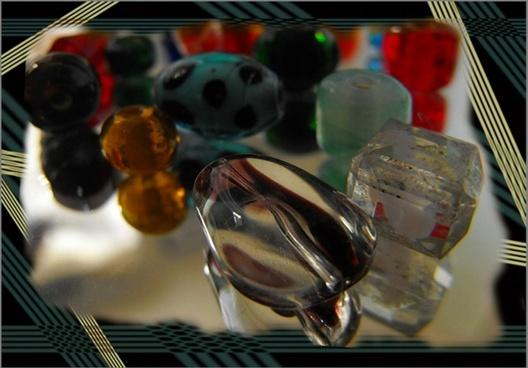 beads on mirror