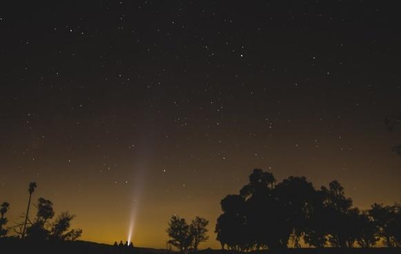 beam group light night people rural silhouette sky