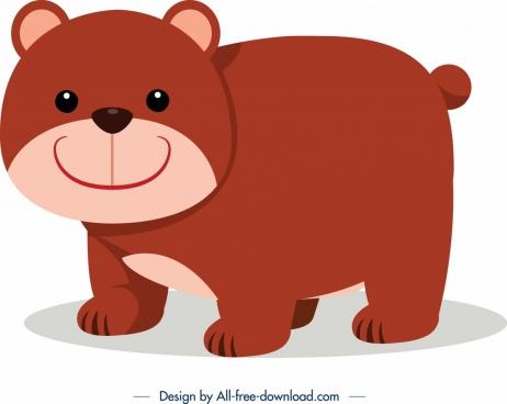 bear icon cute cartoon design