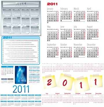 beautiful 2011 calendar template 03 vector