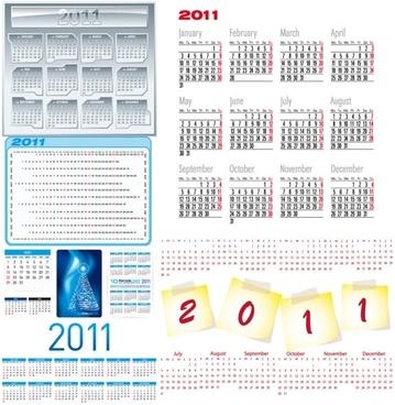 beautiful 2011 calendar template 03 vector