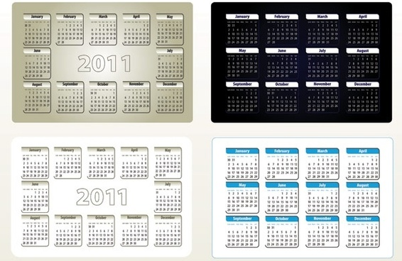 beautiful 2011 calendar template 05 vector