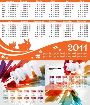 beautiful 2011 calendar template vector