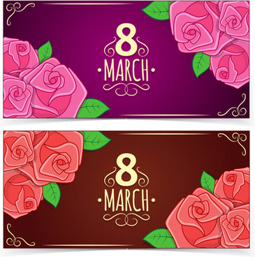 beautiful 8 march womens day banner vector
