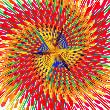 beautiful abstract multicolor circle colorful dotted pattern background vector