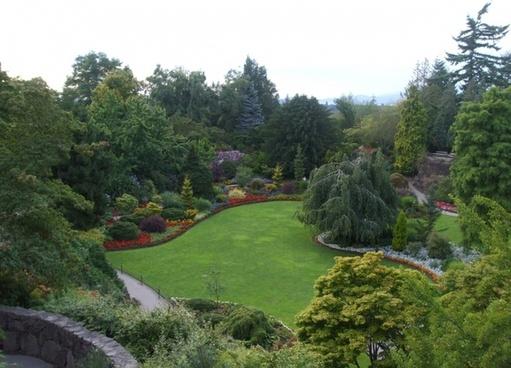 beautiful and panoramic garden