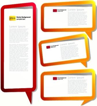 speech bubbles text box templates modern colored design