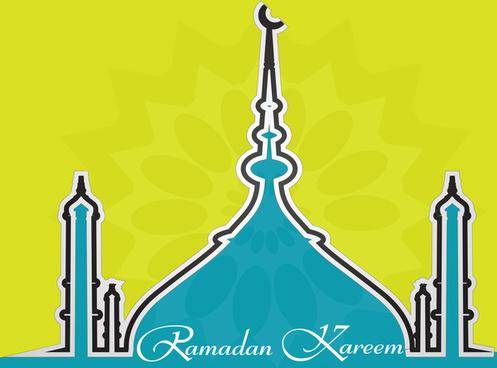 beautiful arabic islamic ramadan kareem colorful vector