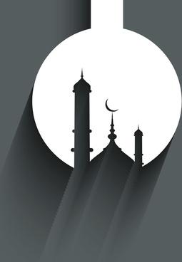 beautiful arabic islamic ramadan kareem vector