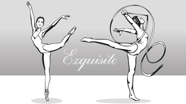 beautiful artistic gymnastics vector