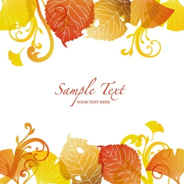 beautiful autumn leaf background 03 vector