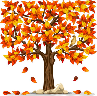 beautiful autumn leaves vector art