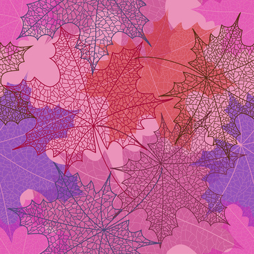 beautiful autumn leaves vector seamless pattern