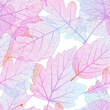 beautiful autumn leaves vector seamless pattern