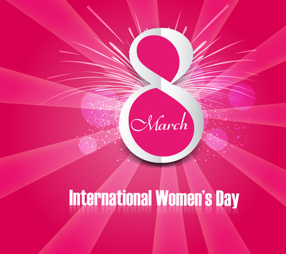 beautiful background design for womens day colorful card vector