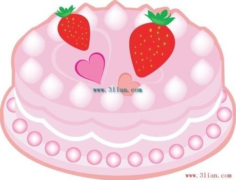 beautiful birthday cake vector